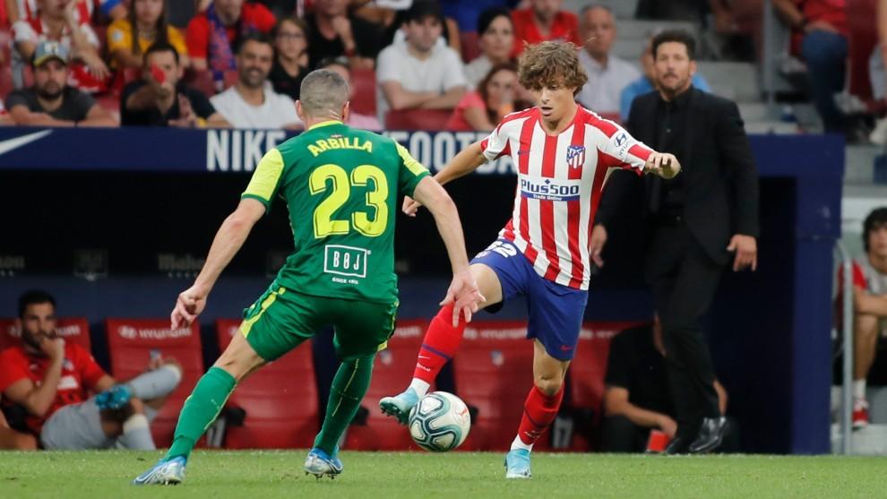Riquelme, el día de su debut con el Atlético frente al Eibar.