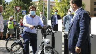 Martínez-Almeida en la reactivación del servicio de bici compartida...