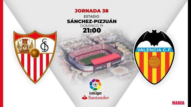 Sevilla - Valencia: Horario y dónde ver en TV hoy el partido de LaLiga Santander
