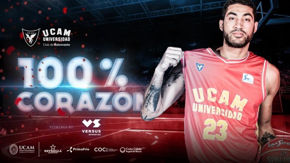 Augusto Lima vuelve al UCAM Murcia dos años después