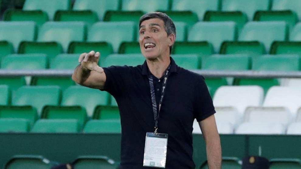 Juan López Muñiz en el partido ante el Betis