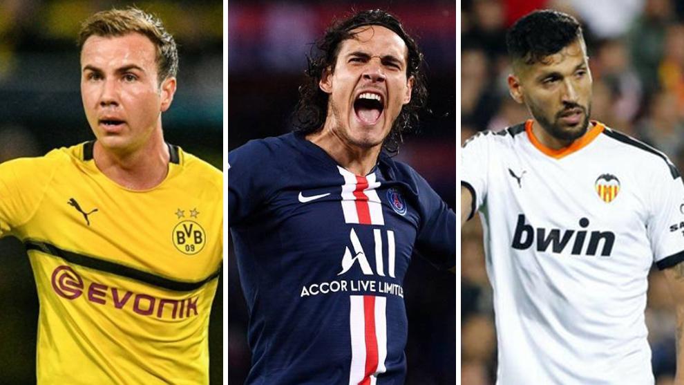 Gotze, Cavani y Garay, algunos de los jugadores que están sin club