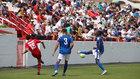 Imagen de la eliminatoria Marino-Tamaraceite disputada con público en...