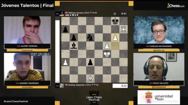 Esipenko gana el torneo de jóvenes talentos que clausuraba el Magistral de León