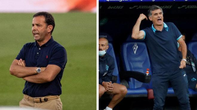 Calleja y Mendlibar, técnicos de Villarreal y Eibar.