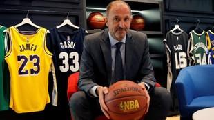 Jesús Bueno, vicepresidente ejecutivo de la NBA para Europa, Oriente...
