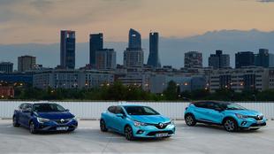 El Renault Mégane Sports Tourer e-Tech, el Renault Clio e-Tech y el...