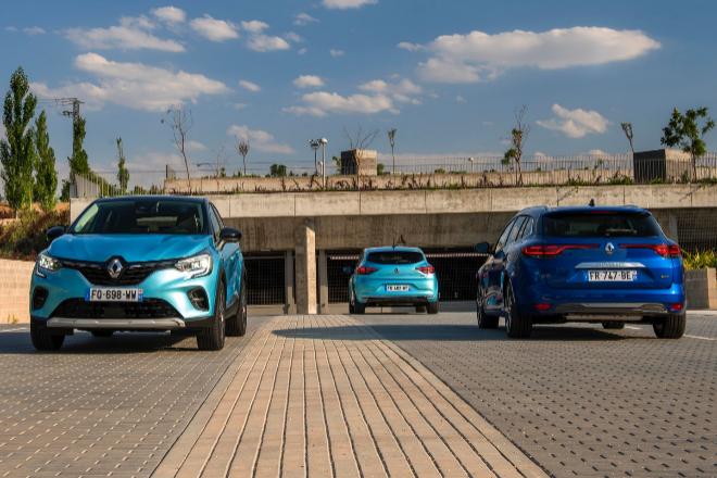 Renault Captut e-Tech, Renault Mégane Sports Tourer e-Tech y Renault...