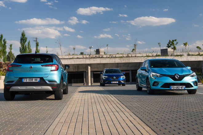 Renault Captut e-Tech, Renault Mégane Sports Tourer e-Tech y Renault Clio e-Tech