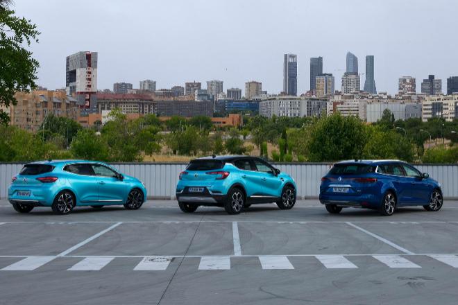 Renault Clio e-Tech, Renault Captur e-Tech y Renault Mégane Sports Tourer e-Tech.