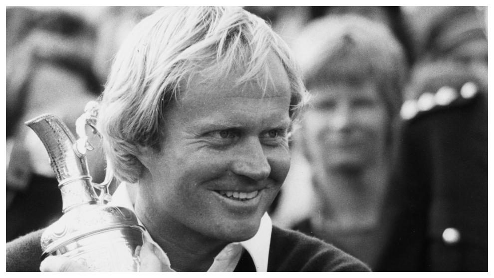 Jack Nicklaus, con la Jarra de Clarete en la edición de 1978