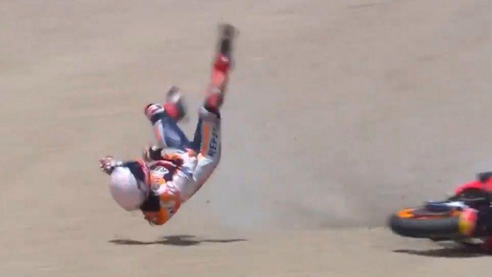 Marc Marquez caida Jerez gp España