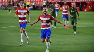 Roberto Soldado celebra el primer gol ante el Athletic Club.