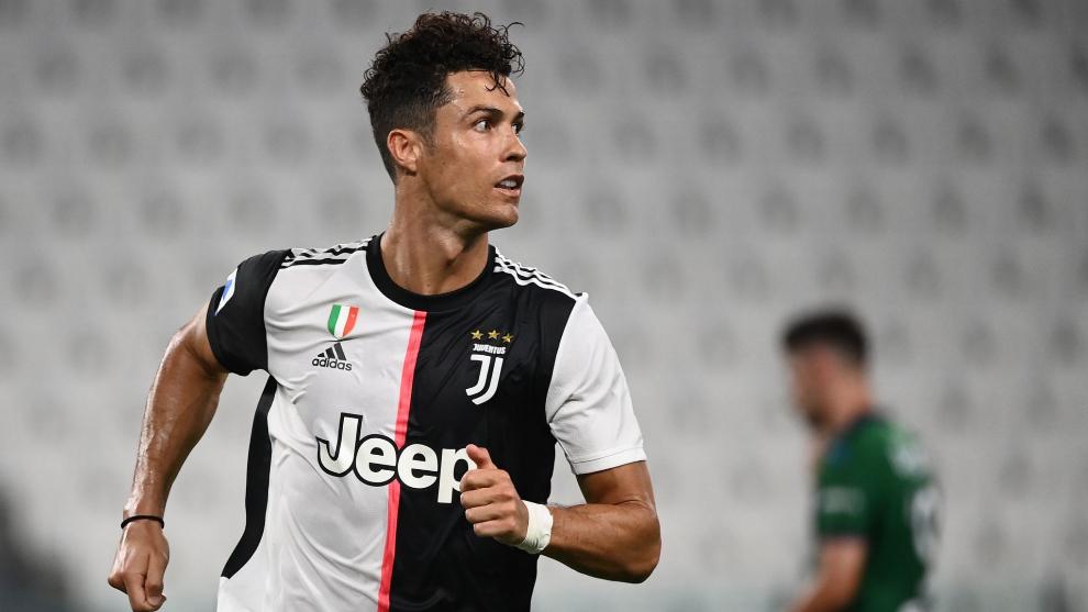 Cristiano Ronaldo, durante el partido ante el Sassuolo