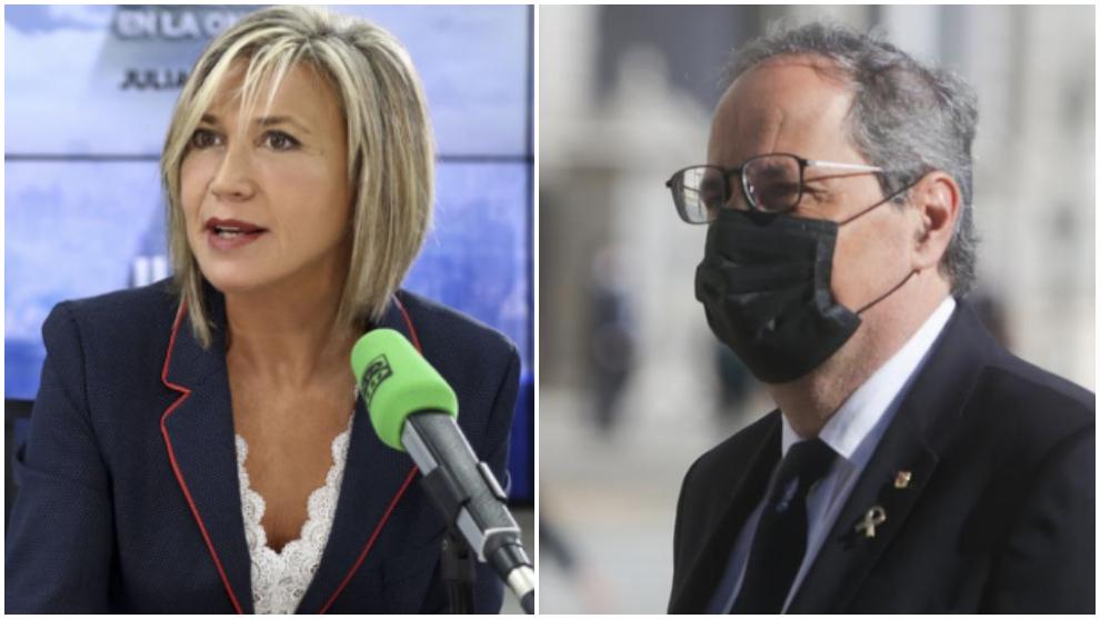 El zasca de Julia Otero a Quim Torra por la gestión de los rebrotes...