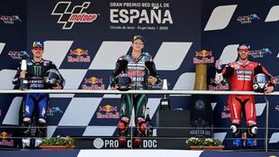 Viñales, Quartararo y Dovizioso, en el podio de Jerez.