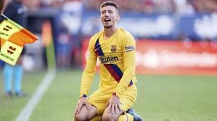 Clément Lenglet, en un partido con el Barcelona