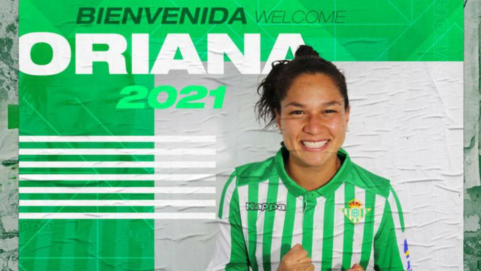Oriana Altuve, nueva jugadora del Betis