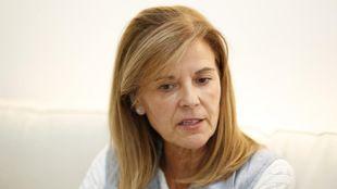 Victoria Pavón durante una entrevista en su despacho