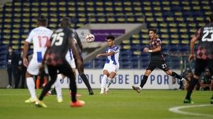 Jesús Corona participó 14 minutos en la goleada de su equipo.