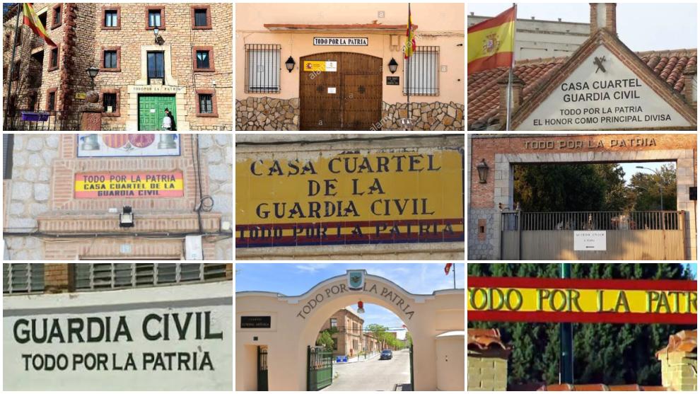 Indignación en la Guardia Civil al querer quitar el lema 'Todo por la...