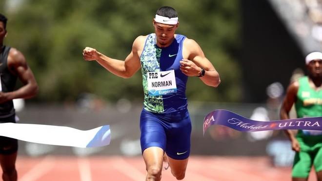 Michael Norman, en una carrera.