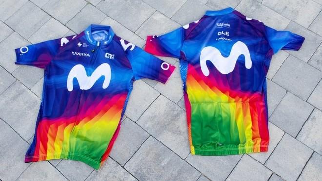 El maillot solidario que lucirá el Movistar.