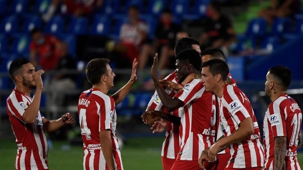 Thomas celebra su gol al Getafe.