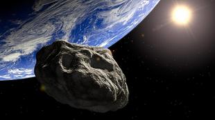 Ilustración de un asteroide