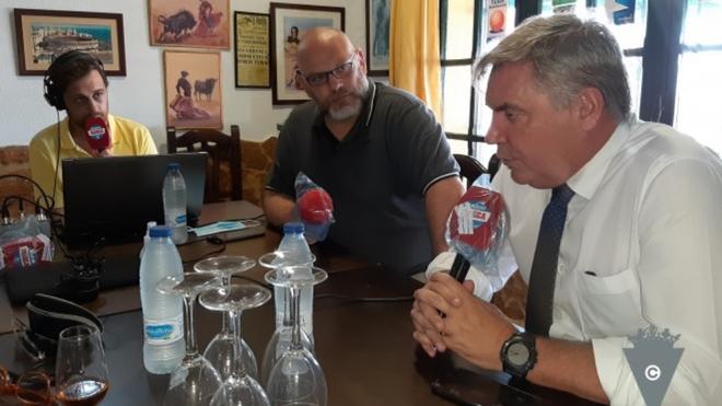 Manuel Vizcaíno, durante la entrevista en Radio MARCA Cádiz.