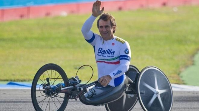 Alex Zanardi, antes de una carrera.