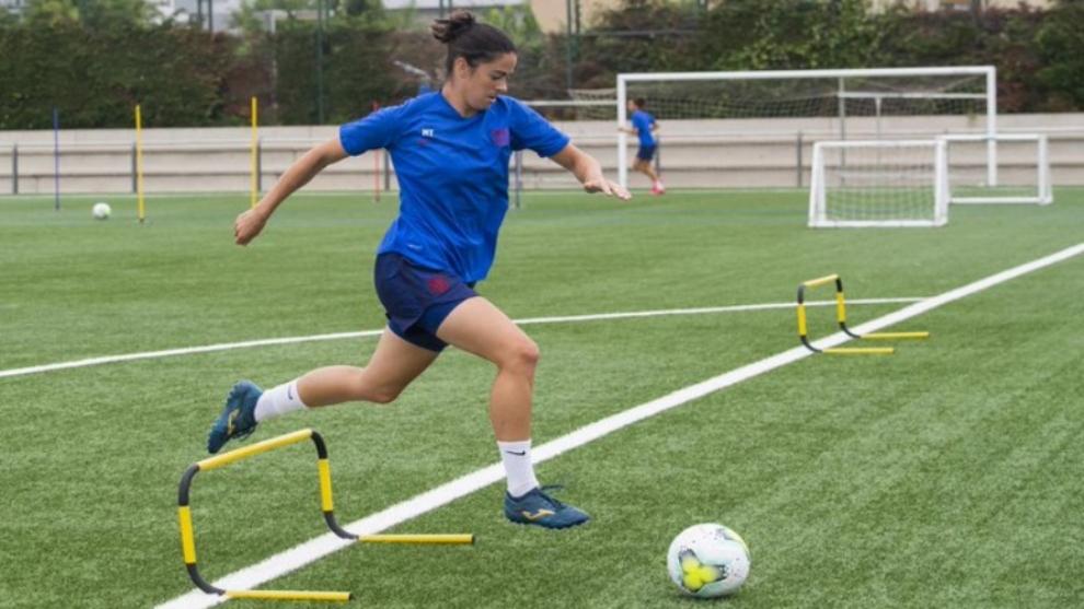 Marta Torrejón, primera lesionada en la vuelta a los entrenamientos