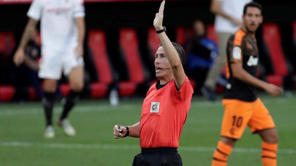 José Luis González González, en su último partido...