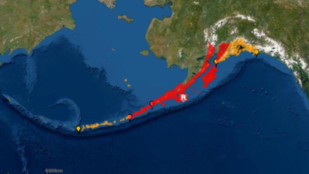 Alerta de tsunami en Alaska por un terremoto de magnitud 7,8.