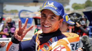 Marc Márquez, tras acabar tercero en la calificación del GP de...