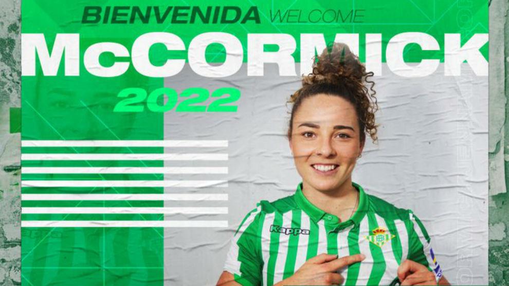 Jenna McCormick, nueva jugadora del Betis Féminas