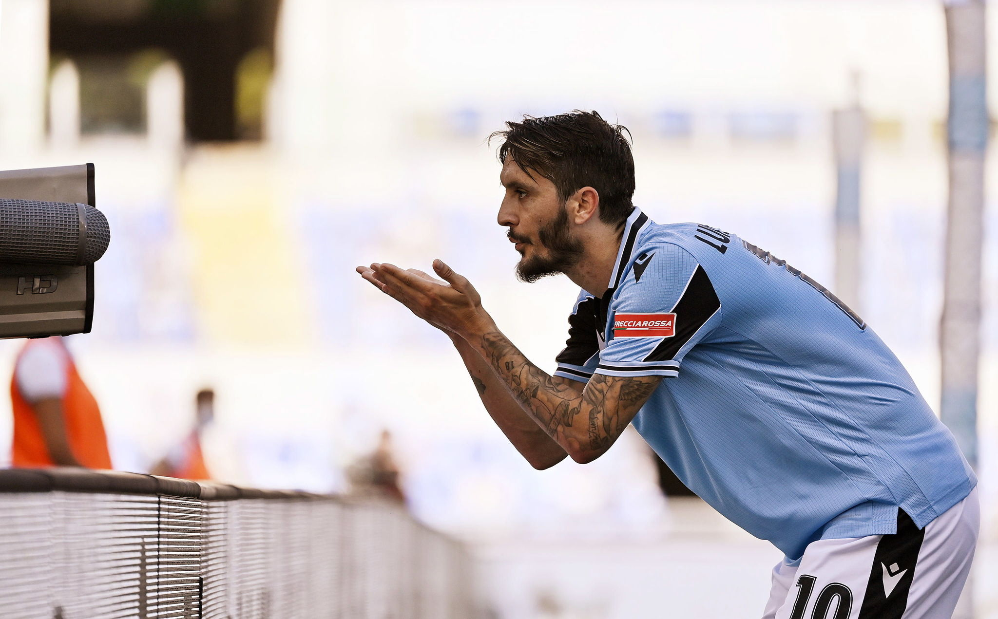 Rome (Italy), 11/07/2020.- Lazios lt;HIT gt;Luis lt;/HIT gt; lt;HIT gt;Alberto lt;/HIT gt; celebrates his goal during the Serie A soccer match between SS Lazio and US Sassuolo at the Olimpico stadium in Rome, Italy, 11 July 2020. (Italia, Roma) EFE/EPA/RICCARDO ANTIMIANI