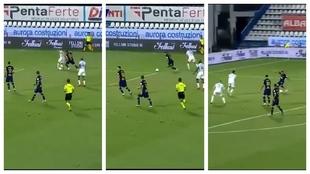 No le habría venido mal a Setién... golazo de Carles Pérez: presión, robo y zurdazo imparable