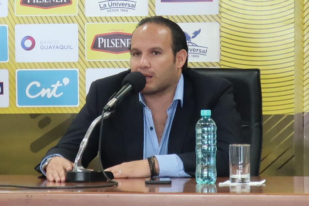 El presidente de la Federación Ecuatoriana de Fútbol, Francisco...
