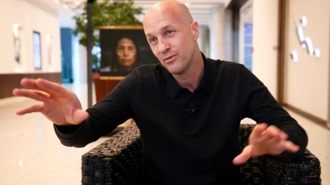 El técnico hispano-holandés Jordi Cruyff durante una entrevista en...