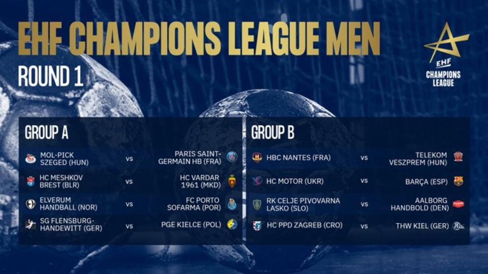 Los 16 clubes que disputarán la nueva Champions League distribuidos...