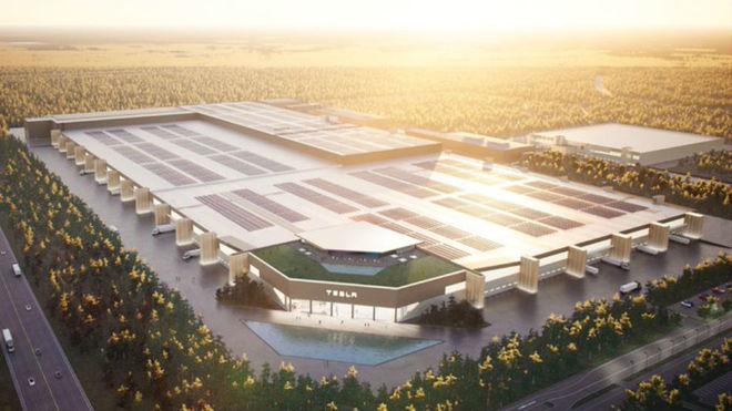 Así será la 'Gigafactory' de Berlín.