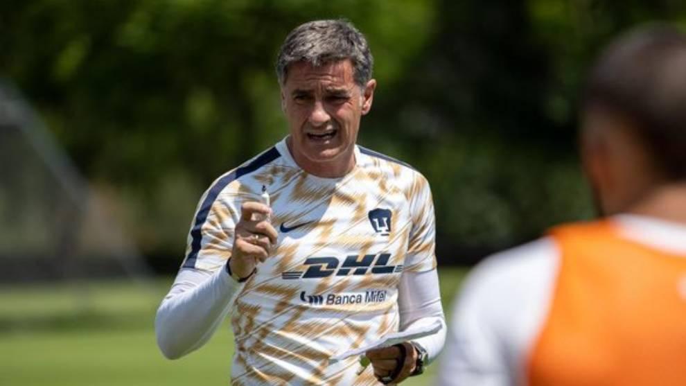 Míchel González durante una sesión de entrenamiento