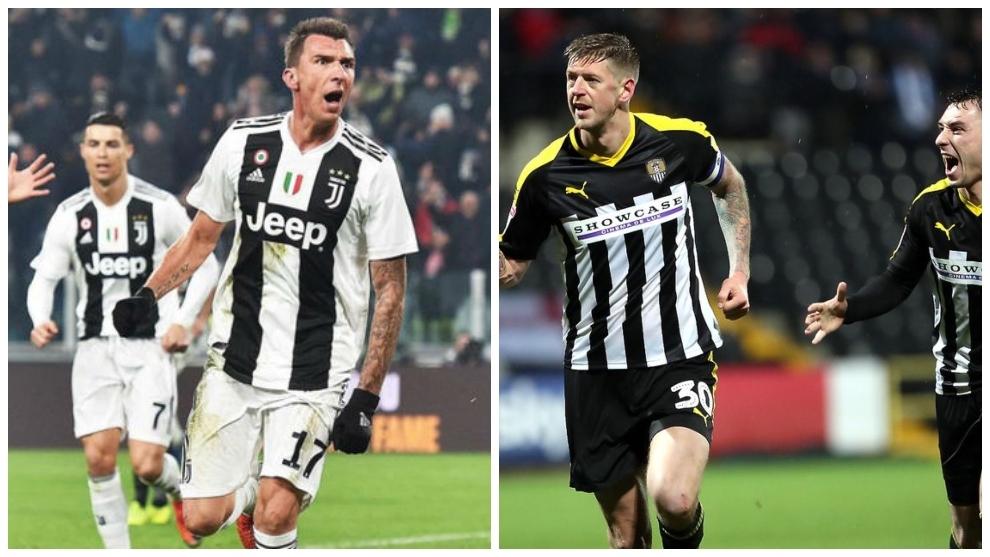 Notts County y Juventus comparten parecidos en su camisetas por los colores