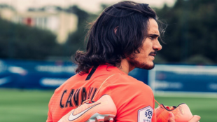 Edinson Cavani todavía como jugador del PSG.