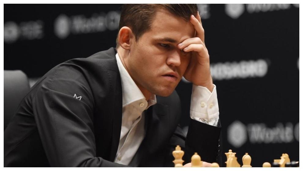 Carlsen, en una imagen de una partida anterior.