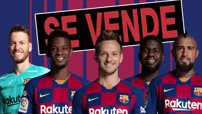 12 jugadores en la rampa de salida del Barça