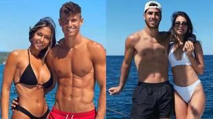 Vacaciones de los futbolistas: Ramos y la copa, Courtois y los burros, Llorente y Asensio con sus novias y sus tabletas...