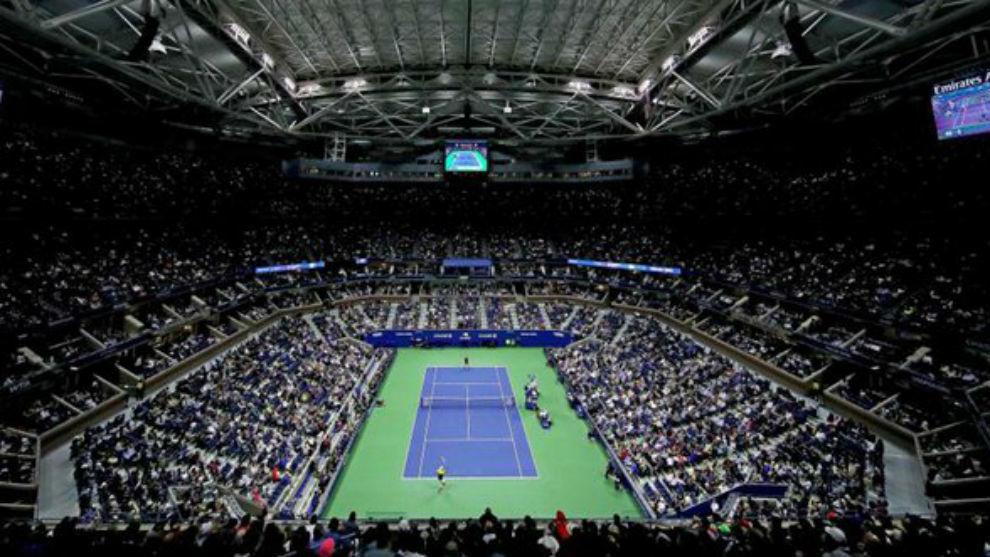 Una vista panorámica del US Open