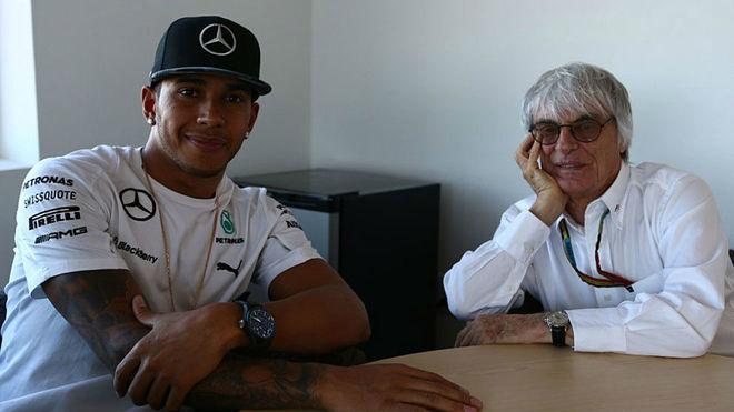 """Ecclestone, a Hamilton: """"Sin mi educación, quizá la F1 no habría sido lo mismo para ti"""""""